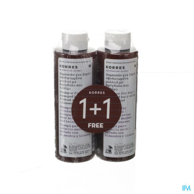Korres Kh Shampoo Almond&lineseed 2x250ml Promo