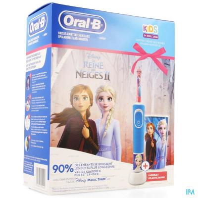 Oral B Kids D100 Frozen + Eb10 + Beker Gratis