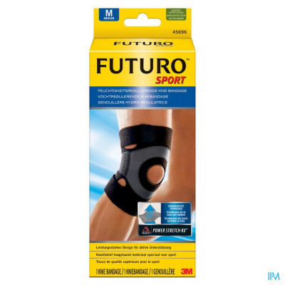 45696dab Futuro Vochtregulerende Kniebandage Medium Zwart (38,1 > 43,2 Cm)