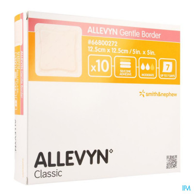 Allevyn Gentle Border Ster 12,5x12,5cm 10 66800272