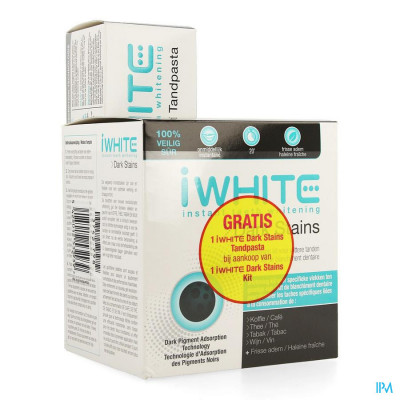 Iwhite Dark Stains Kit + Tandpasta 75ml Gratis