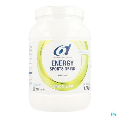 6d Sixd Energy Sports Drink Lemon Lime Pdr 1,3kg