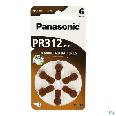 Panasonic Batterij Oorapparaat Pr 312h 6