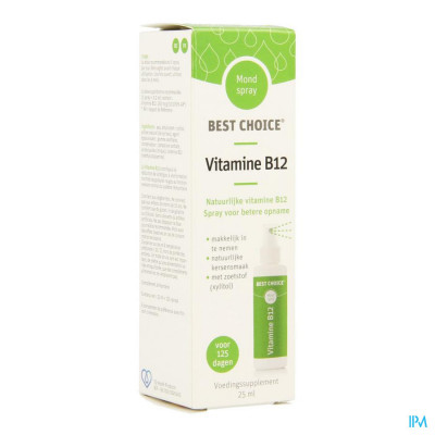 Best Choice Mondspray Vitamine B12 25ml
