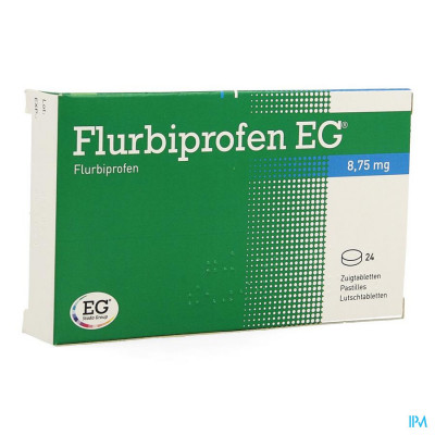 Flurbiprofen Eg 8,75mg Zuigtabletten 24