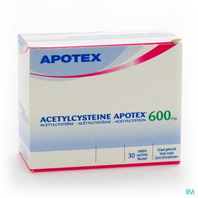 Acetylcysteine Apotex Sach 30 X 600mg