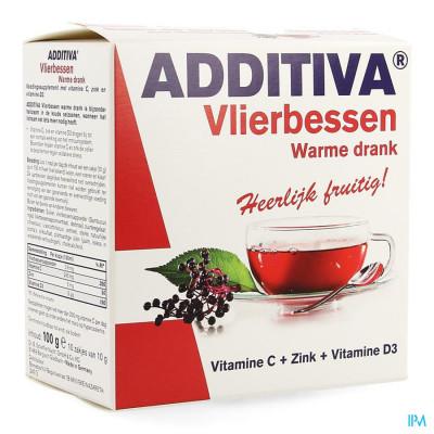 Additiva Vlierbessen Warme Drank Zakje 10
