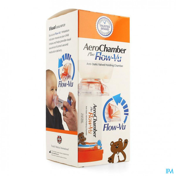 Aerochamber Plus A/static+flow-vu-mask Baby