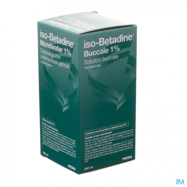 Iso Betadine 1% Nf Mondwater 200ml Ready To Use